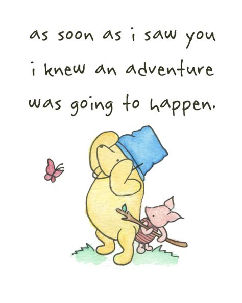 Winnie The Pooh Birthday Quotes Items Similar To Winnie The Pooh Piglet Cute Quote