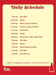 Pin day care daily schedule template on pinterest