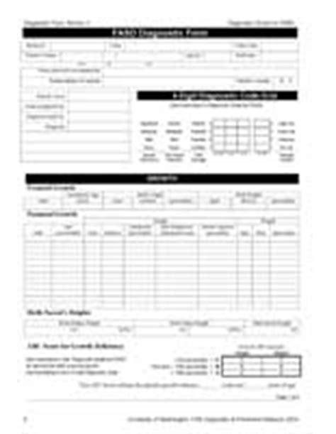 diagnosis form template 4 digit code diagnostic forms