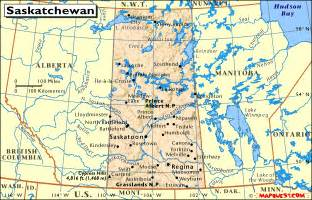 canada provincial map of saskatchewan