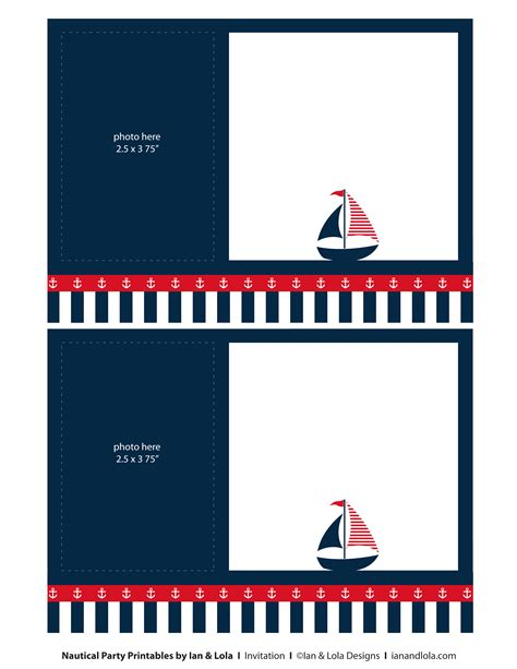 nautical stationery template nautical birthday invitations template best template