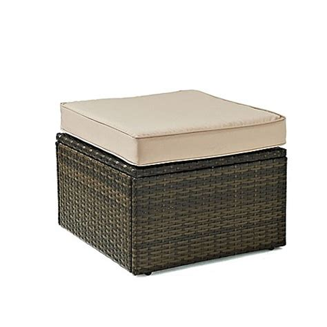 resin ottoman buy crosley palm harbor all weather resin wicker ottoman