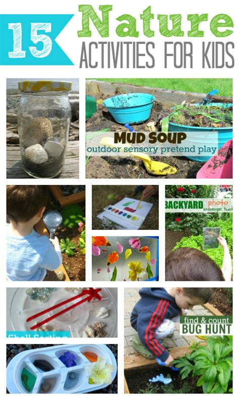 15 nature activities for kids no time for flash cards