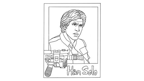 han coloring page partay pinterest