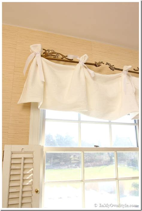 valance ideas no sew window valance in my own style
