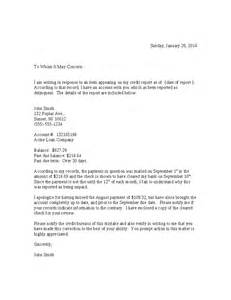 Credit Report Correction Letter Template Billing Dispute Letter Template