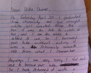 hombre roba bicicleta y la regresa con carta de disculpas el diario ecuador
