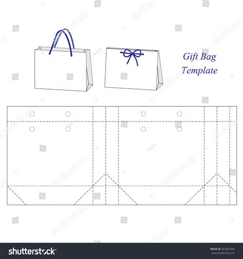 shopping bag template blank stock vector 361867928