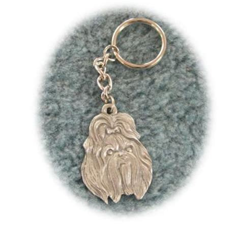 Shih Tzu Keychain pewter key chain i my shih tzu keychains at