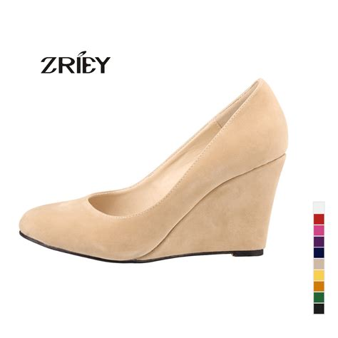 Suplier Wedges Heels aliexpress buy 2016 newest pumps fashion suede pointed toe high heels wedge shoes
