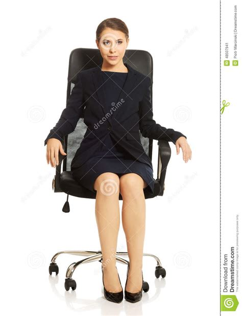Sitting On Chair by Businesswoman Sitting On Chair Stock Photo Image 48507941