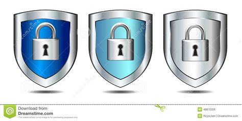 Shields Lock In by Shield Lock Login Protection Stock Vector Image