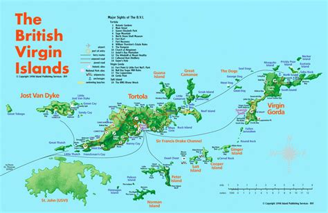 islands map the islands bvi tortola 187 bvi services