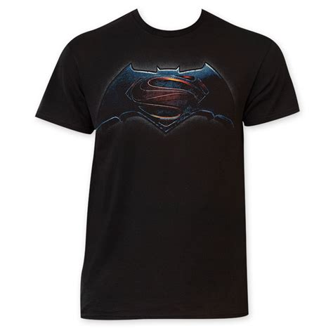 Batman Superman Tshirt batman v superman logo black t shirt superheroden