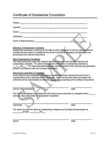 Certification Letter For Contractor Certificate Of Completion Construction Free Printable Documents