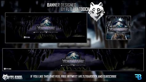 gfx psd templates free gfx jurassic world banner header