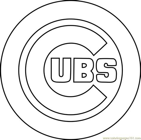 chicago cubs coloring pages chicago cubs logo coloring page free mlb coloring pages
