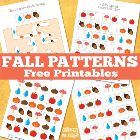 pattern recognition facebook pattern recognition fall printables itsy bitsy fun