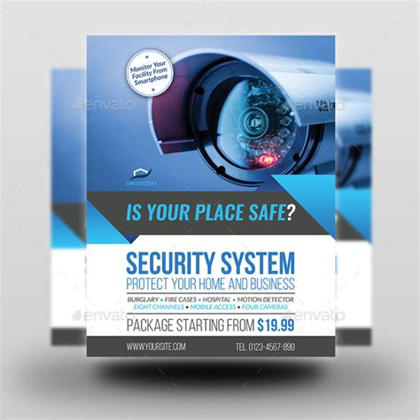 Security System Flyer Template Vol 3 By Owpictures Graphicriver Security Company Flyer Template