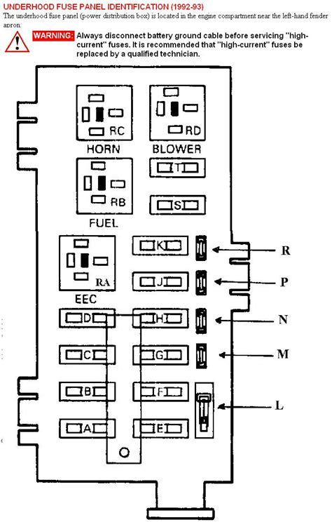 1993 ford ranger power distribution box diagram wiring