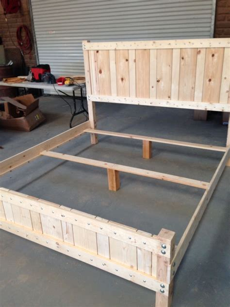 pine king size bed frame    materials