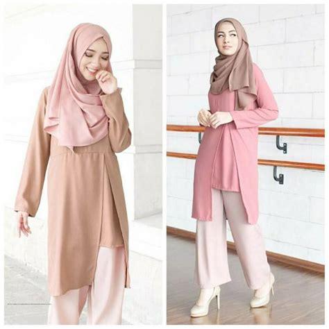 Grosir Busana Muslim grosir baju muslim vanilla tunik grosir baju muslim