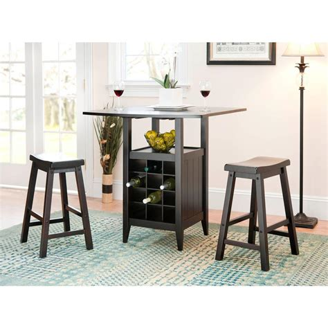 Espresso Bar Table Safavieh Emeric 3 Espresso Bar Table Set Amh8504a The Home Depot