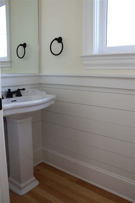 Bathroom Wainscoting Panels shiplap wainscoting panels plank walls shaker style powder and basement bathroom