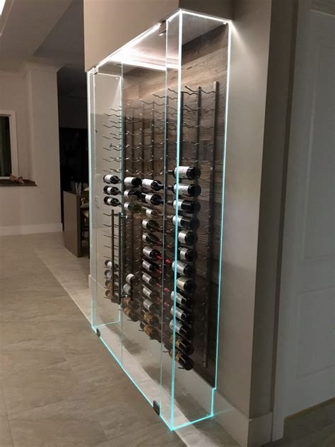 glass door wine storage creating an all glass wine cellar or room the glass