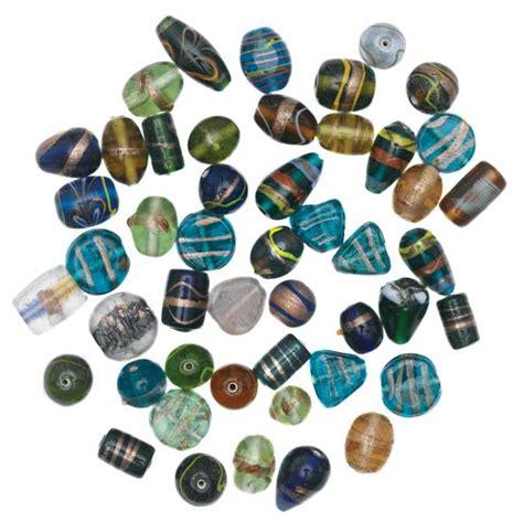 gold glass bead assortments blick materials