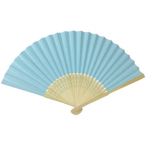Paper Folding Fans - folding paper fan 8 25 quot light blue