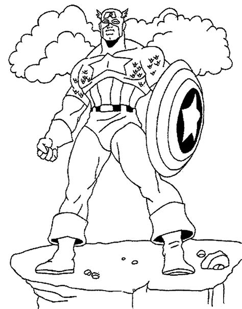 printable coloring pages captain america free coloring pages of captain america chibi