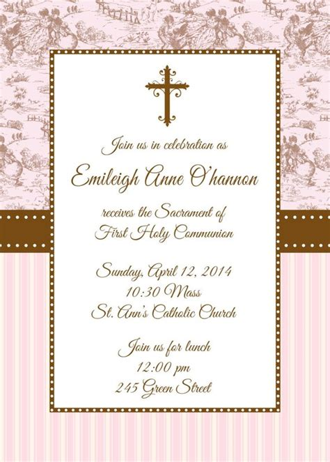holy communion invitation card template holy communion invitation communion invitation