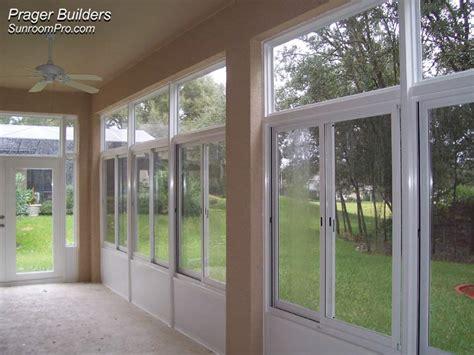 sorrento sunroom addition acrylic windows prager builders