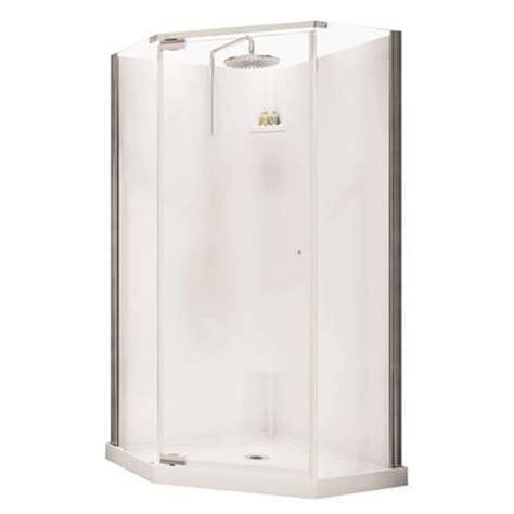 Home Depot Shower Doors Canada Maax Lobelia Neo Angle Polystyrene Frameless Shower Kit