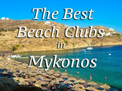 beach clubs  mykonos greece roamaroo