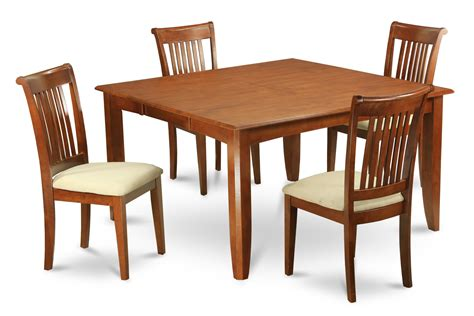 Square Dining Table And 4 Chairs 5 Dining Table Set For 4 Square Dining Table With Leaf And 4 Dining Chairs Ebay