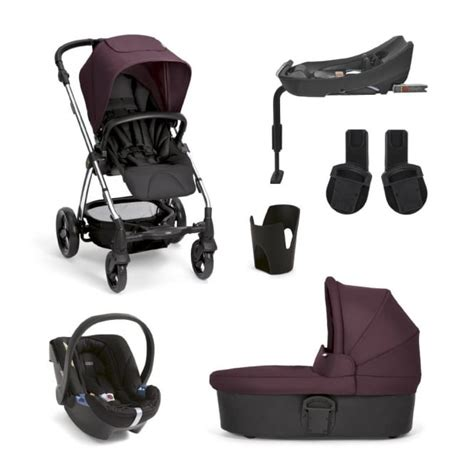 Mamas Papas Travel Charm 1 mamas papas sola 178 mulberry 6 pushchair carrycot cup holder adaptors car