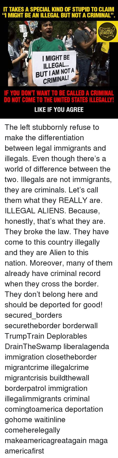How Many Illegal Immigrants A Criminal Record Special Of Stupid Memes Of 2017 On Me Me