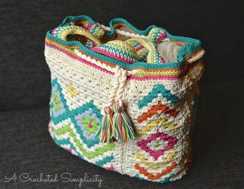 Boho New Pattern new crochet pattern release quot boho chic quot mosaic tote bag