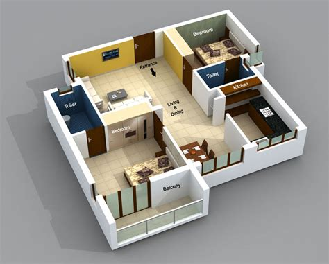 home design 3d 2 bhk small apartment plans tiny studio apartment plans