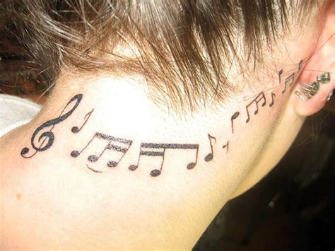 music note tattoo behind ear 64 fantastic neck tattoos