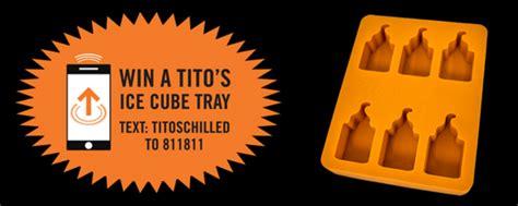 Text Entry Sweepstakes - tito s vodka custom ice cube trays