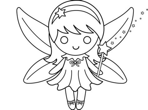 free coloring cute fairy coloring pages