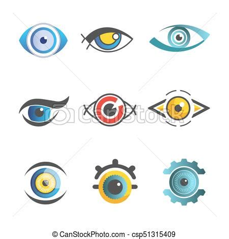 ophthalmology template vector ophthalmology icons templates isolated optic