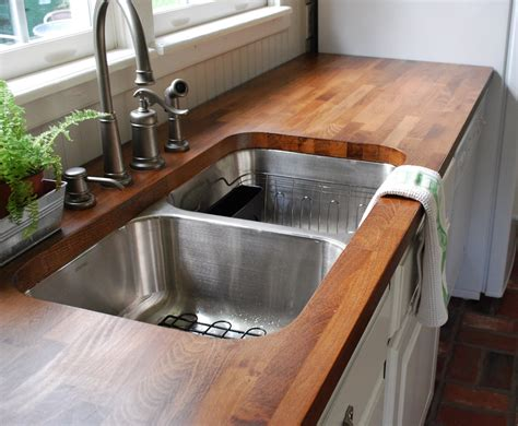 Butcher Block Kitchen Countertop by Budget Kitchen Redesign Emily Henderson