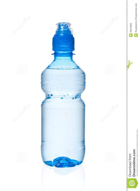 small bottle of water stock image image of purified