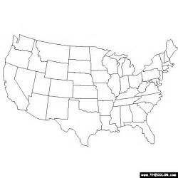 Colored Map Of The United States by United States Map Coloring Page