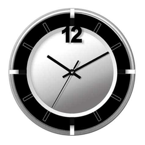 wall clock modern buy silver and black contemporary wall clock online