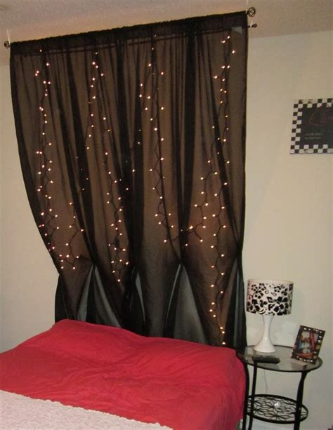 drapes behind headboard 1000 ideas about curtain headboards on pinterest